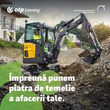 OTP Leasing și Ascendum Machinery – Împreună punem piatra de temelie a afacerii tale